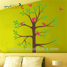 Zooyoo personalizados aves xl foto del árbol de pegatinas de pared/decoración de hogar/extraíble etiquetas de la pared