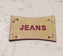 Jeans cow hide leather label,leather patch,genuine leather label patch