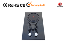 2 Burner gas stove with hot plate