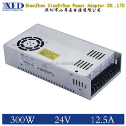 XED- 24 V12.5A Switching Open Frame Enclosed Power Supply
