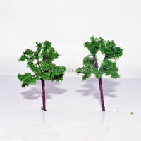 35/17 miniture wire trees mini green Model Trees for construction and real estate