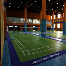 Factory production BWF approved synthetic vinyl badminton sports court floor