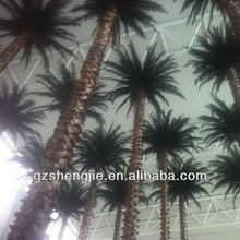 china wholesales sell decorative imitate ornamental fake wood trunk artificial indoor palm tree for decoration