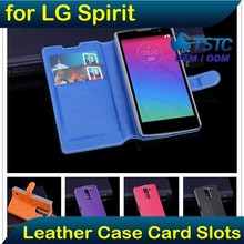 Factory Premium Side Flip Cover Mobile Phone Cover Case for LG Spirit, Folio Wallet Leather Case Cell Phone Cover for LG Spirit