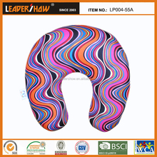 wave printed u shape travel neck pillow filled in microbeads