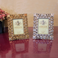 2016 USA Handmade Resin Square Photo Frame For Thanksgiving With Antique Gold Silver For Home Decor Folk Art Craft