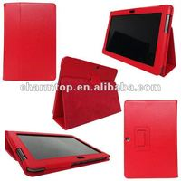 Fashional Red Leather Case for Samsung Galaxy Tab 2 P5100