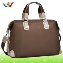 big size high quality black leather duffel bag