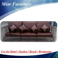 new trendy cane rattan sofa set / Synthetic rattan sofa 3 seater sofa dimensions 302763
