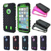New Tire Heavy Duty Hybrid Rugged Rubber Hard Case Cover for iPhone 6