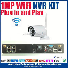 4CH outdoor waterproof&vandal resist wifi 720p ip camera 1*4T HDD Capacity NVR plug and play wifi ip camera with nvr kit