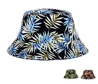 2015 New dome colorful china cotton leaves bucket hat sun hat cap wholesale