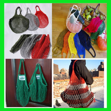 2015 Eco- Friendly Portable Shopping String Bag Cotton Net Mesh Bag For Sun Clothes Toys Basketball Storage Dilly Bag