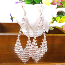 Fashion Jewelry Classical Exquisite Full Shining Rhinestones Bridal Drop Earring