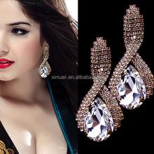 Top design fashion earring, Elegant Crystal earrings, ladies stud earrings designs