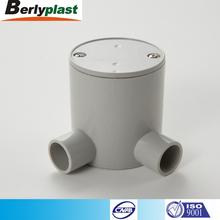 Pvc profunda conexiones para tubo Conduit plástico redondo redondo caja de conexiones eléctricas