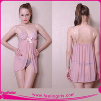 Top Sellling sexy mature pink babydoll