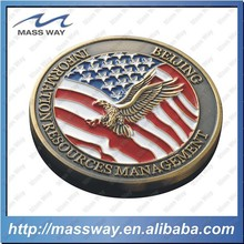 zinc alloy embossed promotion coin custom 3D metal antique coin