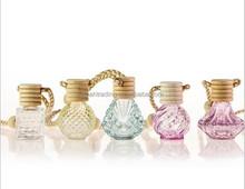 different shape glass perfume bottle pendant, antique perfume bottle pendant, perfume star shaped bottle