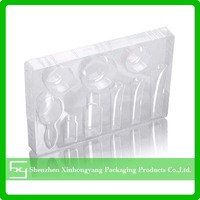 Clear decrative cosmetic plastic tray ,cosmetic plastic container