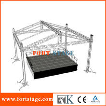 Portable stage setup for event