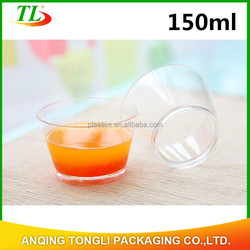 150ml custom clear plastic aviation cup,plastic pudding cup