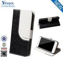 Veaqee manufacturer wholesale mobile phone wallet flip pu leather case for iphone 6