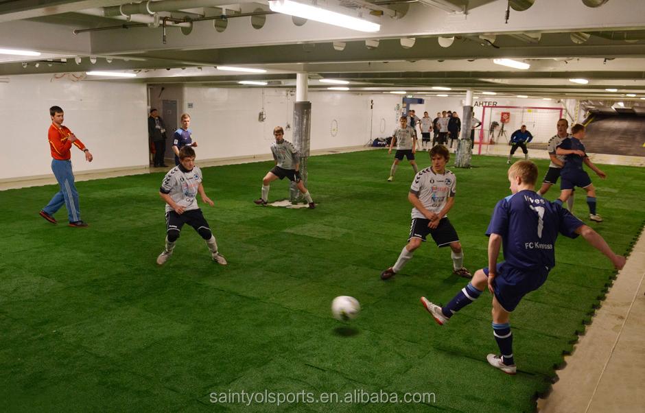 Interlock Grass Artificial Turf For Mini Soccer Field