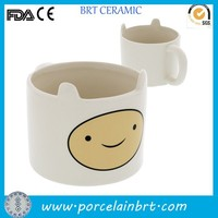 Hand printed cute egg ceramic White Cup wholesale
