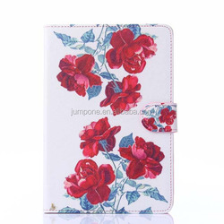 Printing owl flower leather wallet bag case For Apple iPad mini 1 2 3