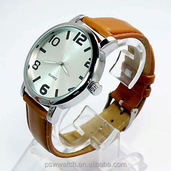 DIY Japan quartz movement genuine leather watches couple watch