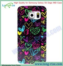 Classical Flowers Design Cover Case for Samsung Galaxy S6 Edge G9250 IMD TPU Case