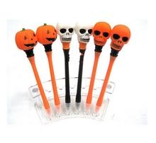 Hot sale skull light up novelty pen/