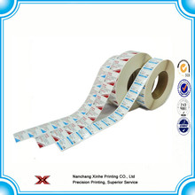 Auto adhesivo de impresión penang labelself logotipo de la etiqueta adhesiva / stickerroll shrink label