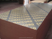 Brown and black film faced concrete casting formwork plywood