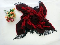 2015 HOT OEM The peony roses Imitation cashmere scarf square pattern more warm shawl The scarf