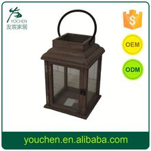 Wholesale Price Best Selling Wooden Candle Lantern Garden