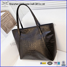 Hot Sale Big Handmade PU Leather 2014 Lady Handbag