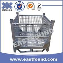 Galvanized Wire Basket, Metal Stillage Cage,Storage Steel Wire Container