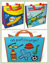 Recycled pp laminated non woven bag, cartoon character shopping bags