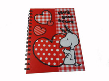 """Factory Price New Arrival Girl Like Notebook , Wire """"o"""" Notebook, Snoopy Notebook"""