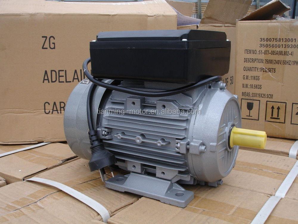 Single Phase Electric Motor 750w 1hp 240v 50hz 1400rpm
