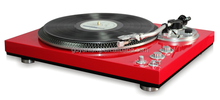 Newest 2 Speed Retro High Glossy Turntable Record Player With Alumunum turntable platter, auto-return function