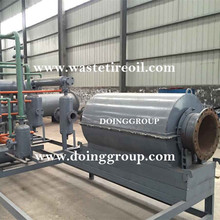2015 new design!! small capacity tire pyrolysis plant, used tire recycling to oil machine