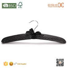 Eisho With White Polka Dots Gorgeous Black Satin Padded Coat Hangers