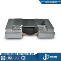 Aluminum brick wall expansion joint ccovers in block wall buildings