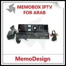 Arábica memobox iptv ev100 tv árabe caja del receptor con la función dvb-s2 populares hd bein y deportes en vivo de osn canales