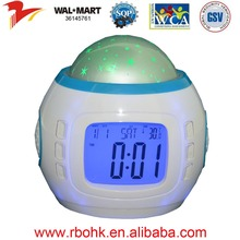 Star projection alarm clock with multifunction