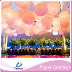 Irregular Ribbed Round Paper Lanterns,muliticolor hanging paper lantern ballon