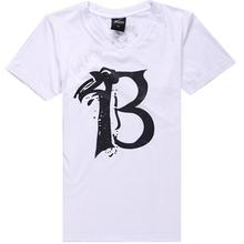 Bulto blanco V cuello T camisas por mayor llanura blanca T camisa diseño